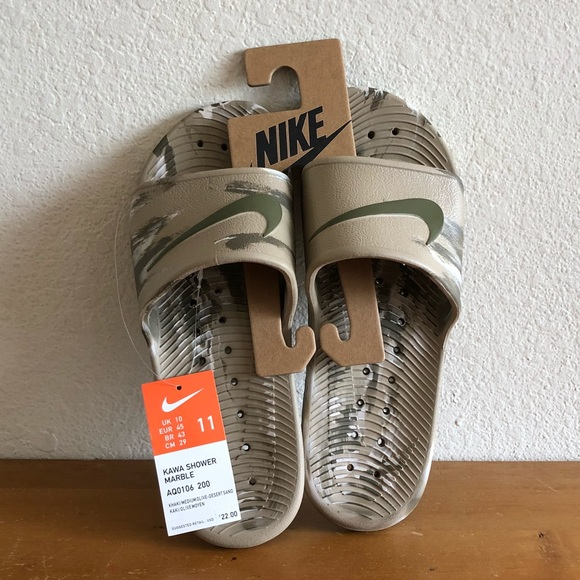 997b0c561e74 Brand new✨Nike Kawa shower marble slides